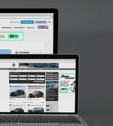 Encarts publicitaires sur sites web ciblés