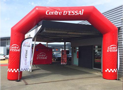Arche gonflable Centre d'Essai Driving