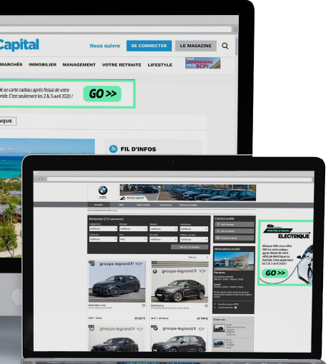 Campagne digitale bannière display sur sites de références