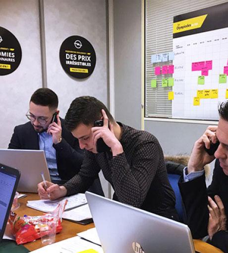 Prise de rendez-vous par les vendeurs pendant le coaching téléphonique