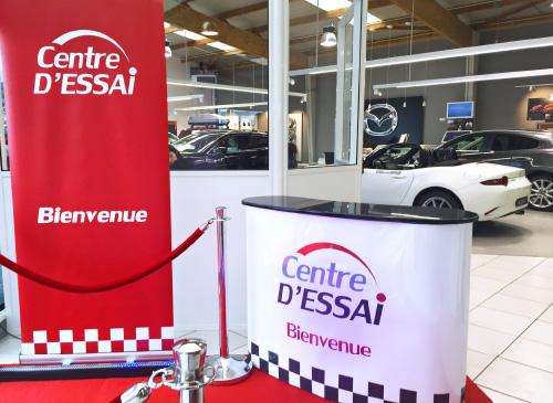 Roll-Up et stand d'accueil Centre d'Essai Driving