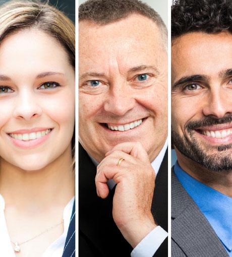 Trois profils de personnes différentes