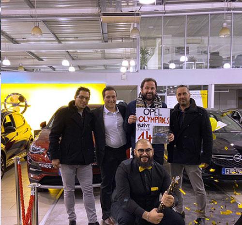 La concession Opel de Brives a réalisé 14 ventes de véhicule pendant les Olympiades