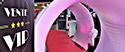 PLV Vente VIP contenant des roll-ups un tapis, un tunnel, de l'éclairage et sonorisation