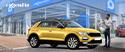 Un véhicule jaune et un commercial en visio-conférence avec son client