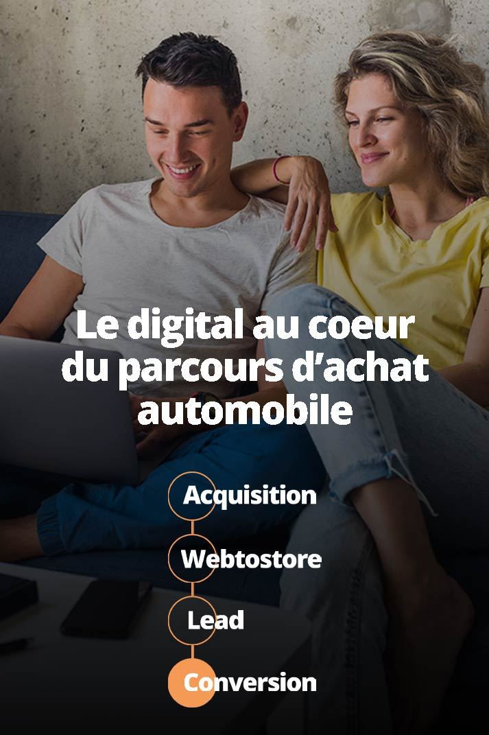 Un couple recherche leur prochain véhicule sur internet