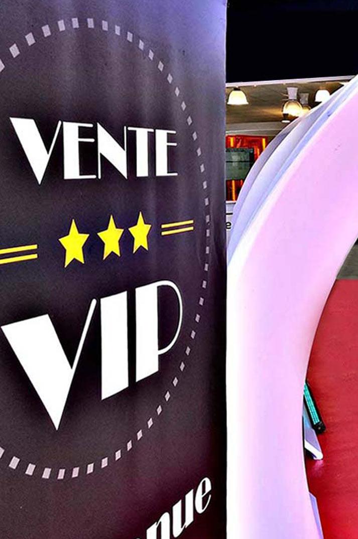 Présentation du produit Vente VIP
