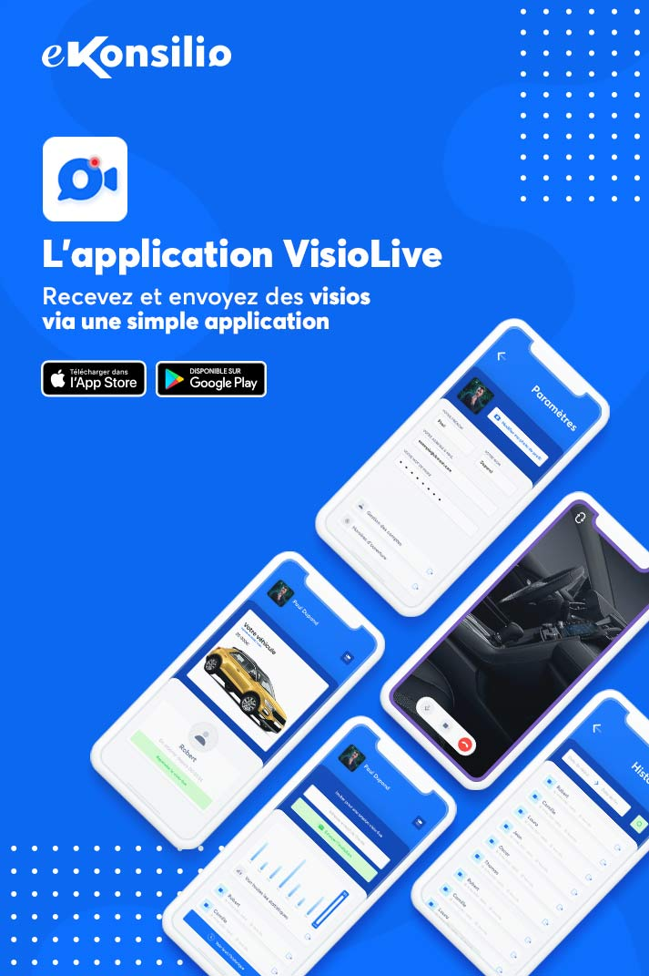Interfaces de l'application VisioLive