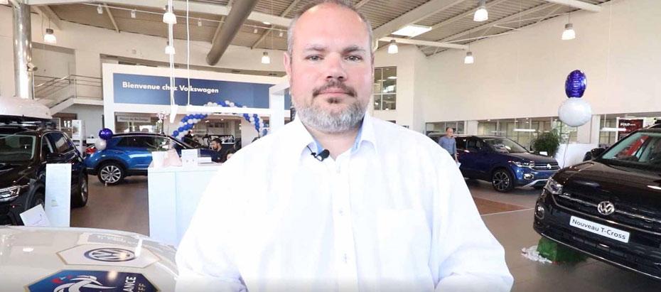 Olivier Bahon chef des ventes de la concession Volkswagen de Nantes