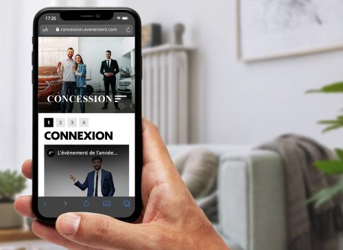 Interface mobile d'invitation par vidéo