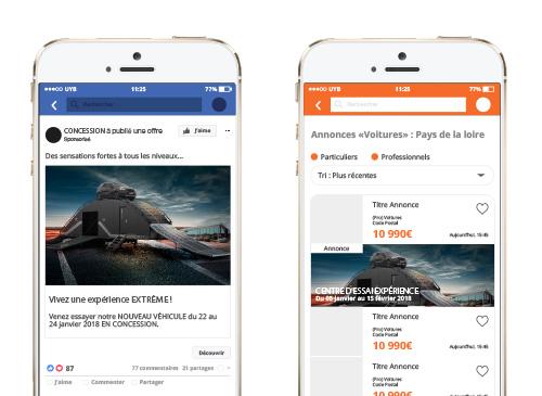 Campagnes sponsorisées Facebook et Leboncoin
