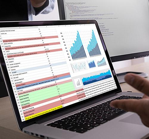 Interface de logiciel contenant le tableau de prospection