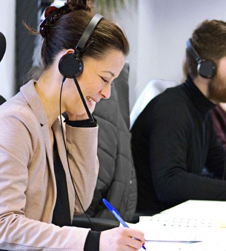 Les téléconseillers d'UpYourBizz réceptionnent les appels entrants