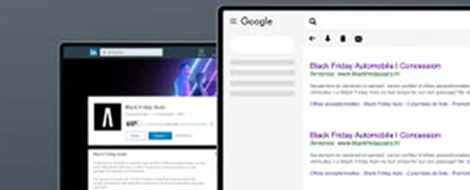 Interfaces web d'une page page Google et LinkedIn