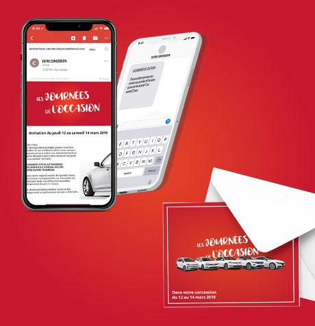 Campagne SMS et mailing papier d'invitation aux Journées de l'Occasion