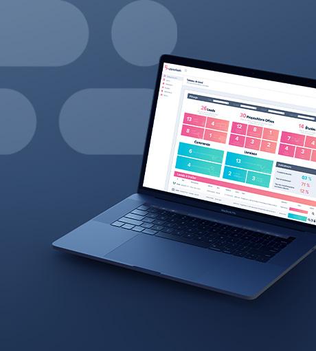 Interface d'accueil du logiciel de gestion de leads UpYourLeads